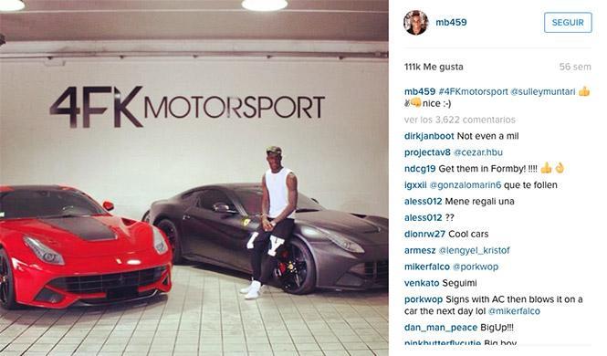 Mario Balotelli Ferrari Instagram