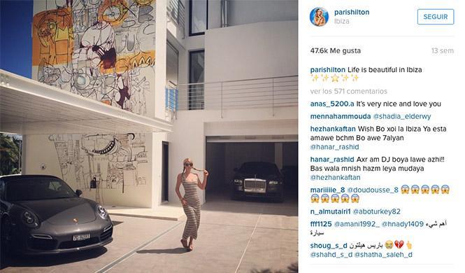 Paris Hilton Rolls Royce Porsche Instagram