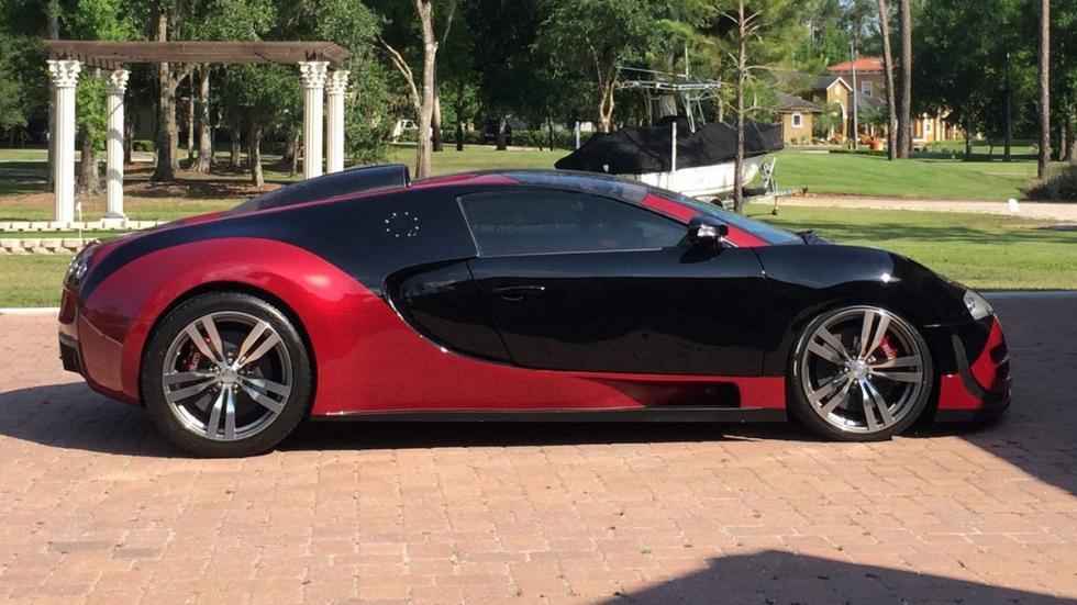 subasta réplica Bugatti Veyron lateral