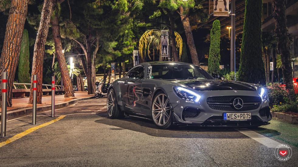 Mercedes-AMG GT preparado por Prior Design delantera