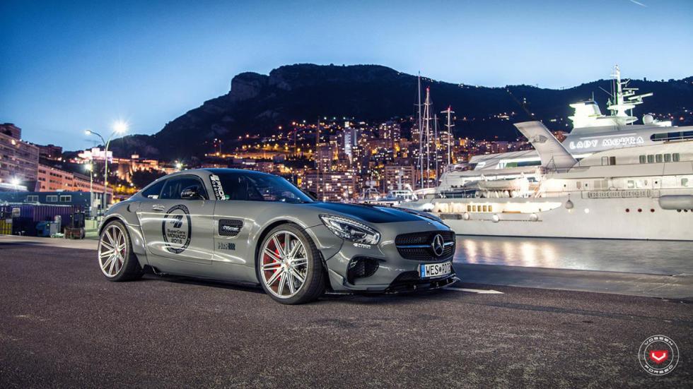Mercedes-AMG GT preparado por Prior Design tres cuartos