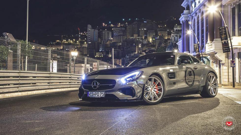 Mercedes-AMG GT preparado por Prior Design perfil tres cuartos