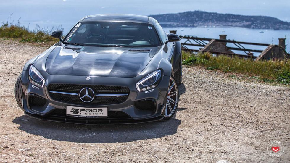 Mercedes-AMG GT preparado por Prior Design frontal