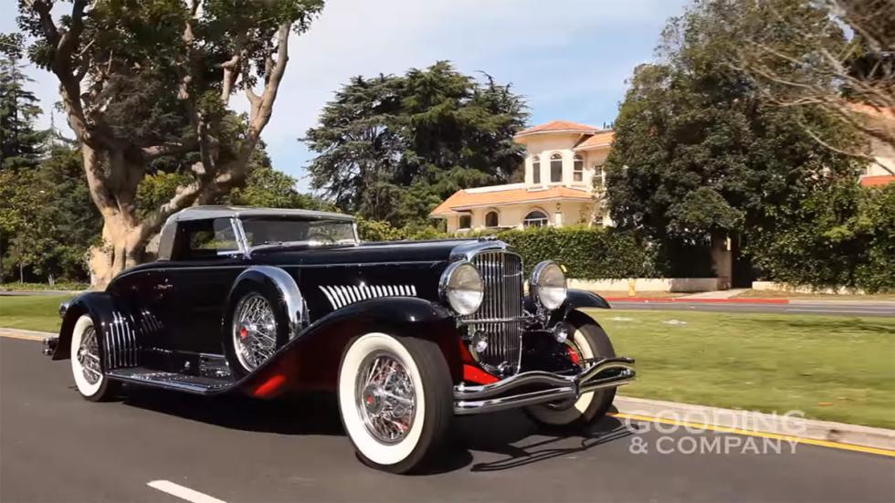 coches americanos más caros Duesenberg Model J Coupé de batalla larga de 1931