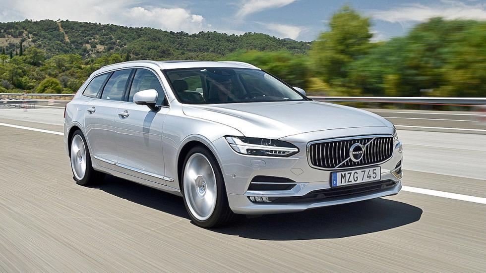 Prueba: Volvo V90 2016 lateral faros