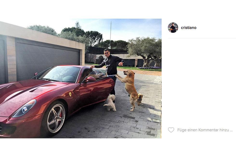 Cristiano Ronaldo: Ferrari 599 HGTE