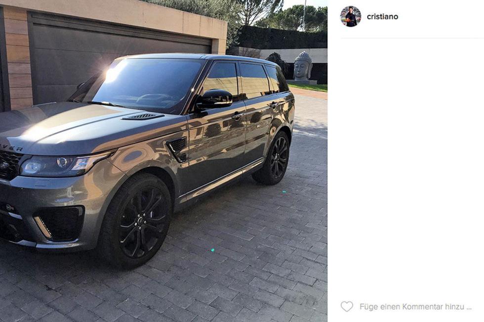 Cristiano Ronaldo: Range Rover Sport