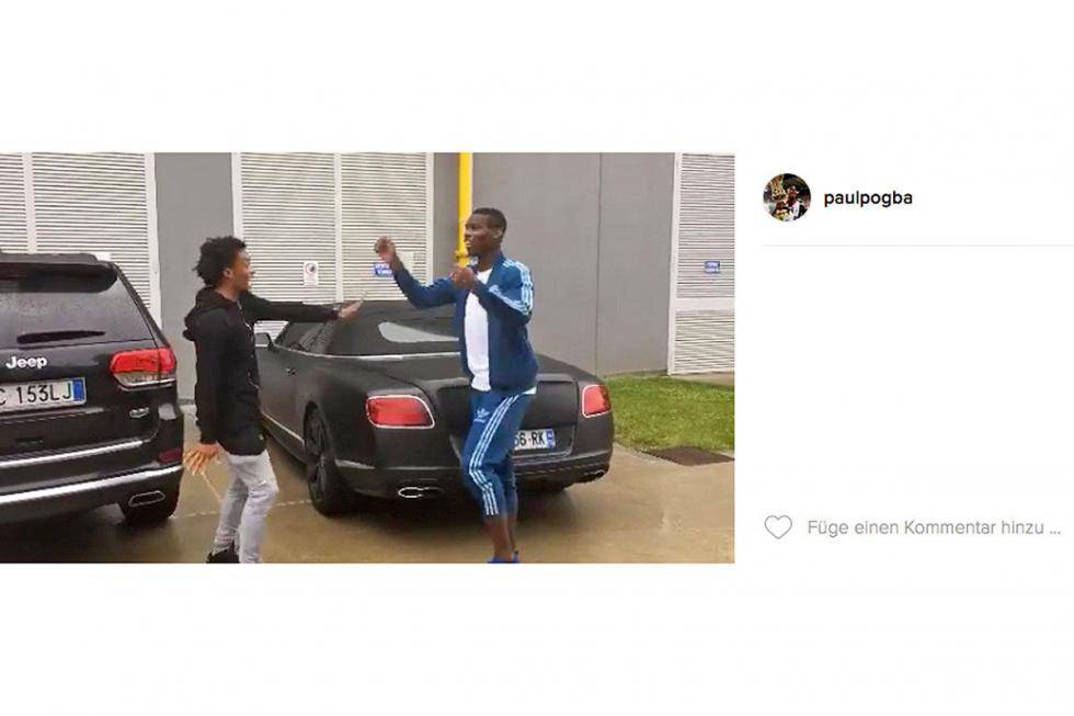 Paul Pogba:  Bentley Continental GTC V8