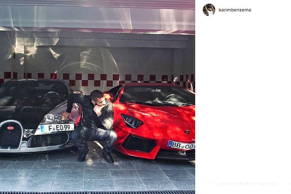 Karim Benzema: Lamborghini Aventador