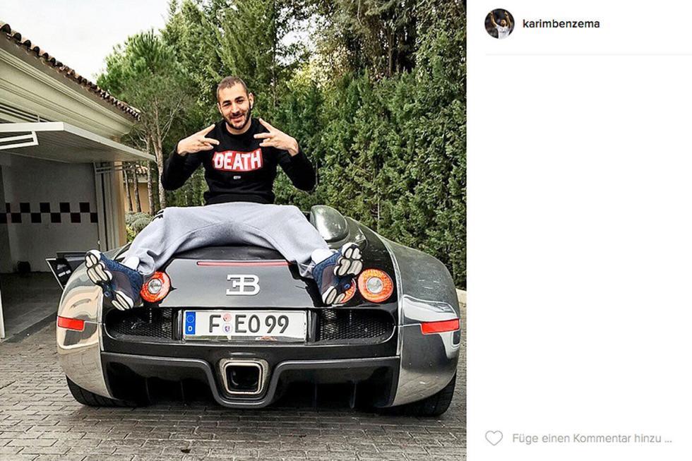 Karim Benzema: Bugatti Veyron Pur Sang