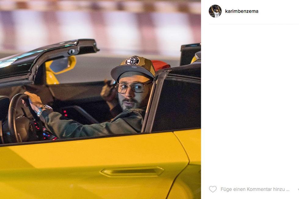 Karim Benzema: Lamborghini Aventador Roadster.