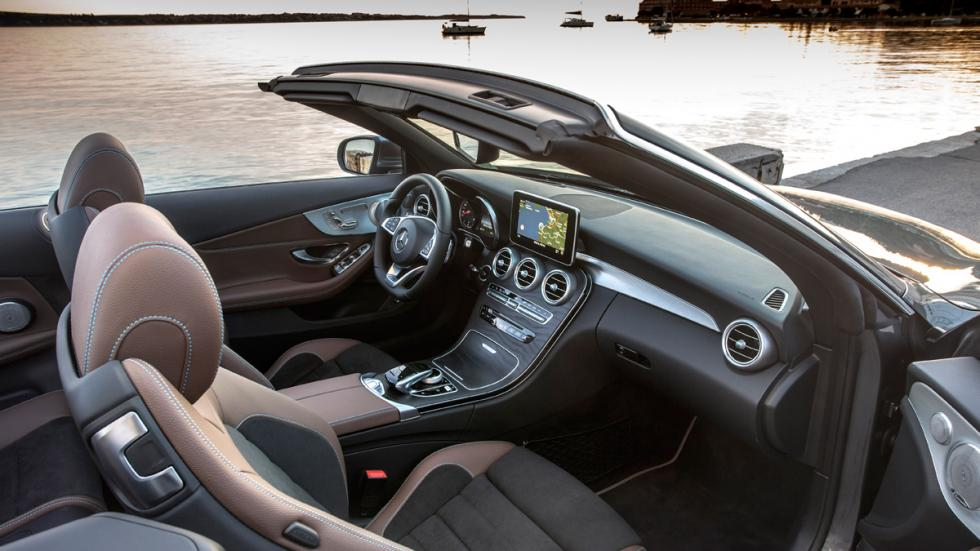 Prueba mercedes clase c cabrio 2016 el hermano mol n for Interior mercedes clase c