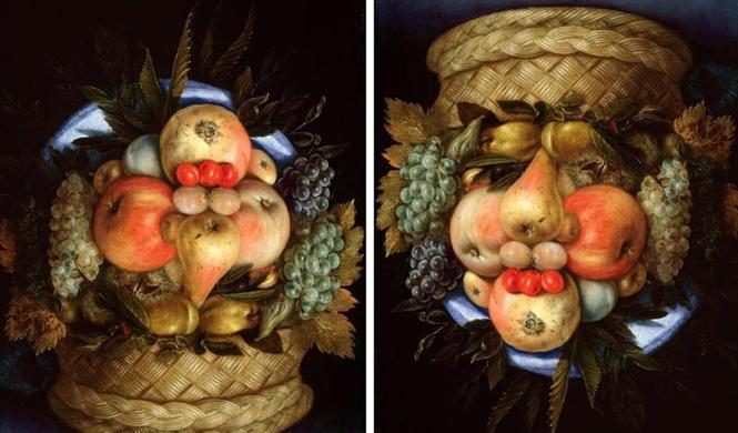 ilusiones opticas increibles cesto frutas