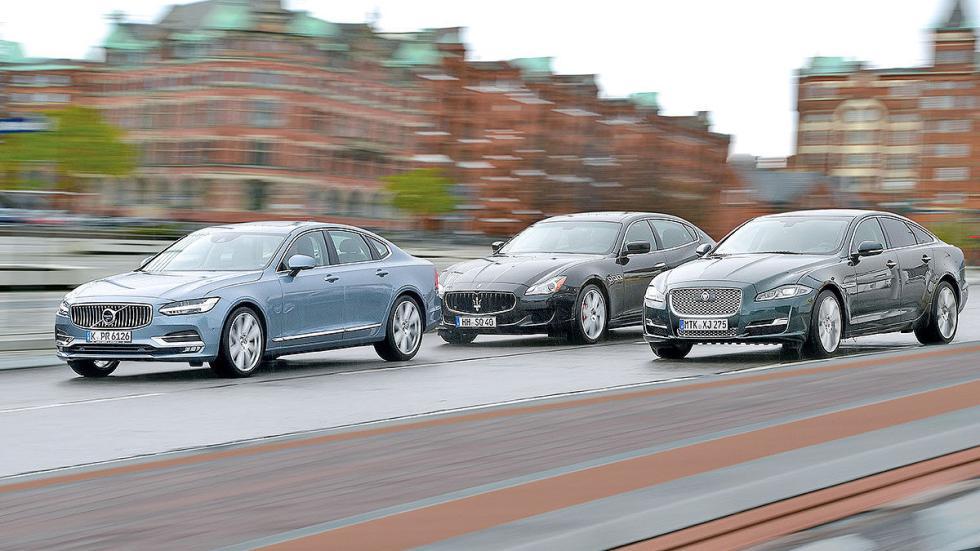 Comparativa: Volvo S90/Jaguar XJ/Maserati Quattroporte