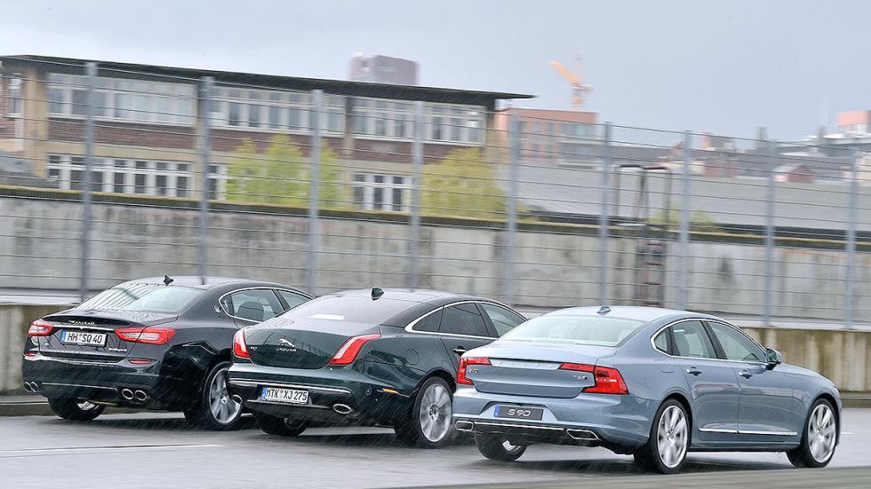 19 Comparativa: Volvo S90/Jaguar XJ/Maserati Quattroporte