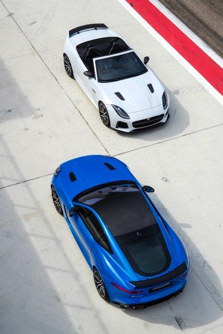 Jaguar F-Ttype SVR Convertible y coupé track