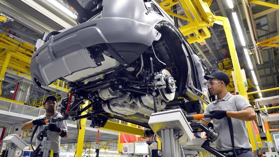 Jaguar Land Rover planta Brasil cadena de montaje
