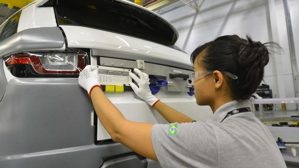 Jaguar Land Rover planta Brasil evoque zaga