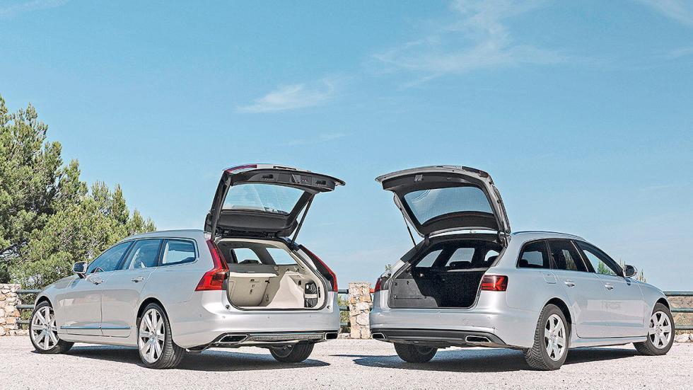 Cara a cara: Volvo V90 vs Audi A6 Avant maleteros