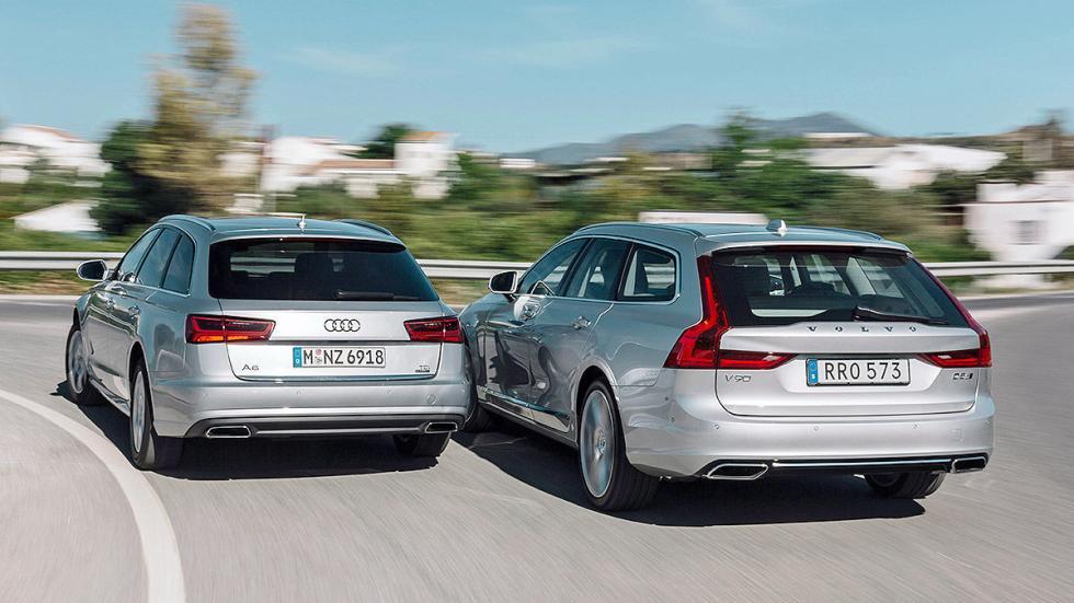Cara a cara: Volvo V90 vs Audi A6 Avant maleteros cerrados