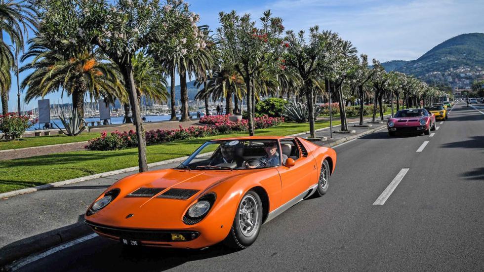 Lamborghini Miura Celebration Tour naranja