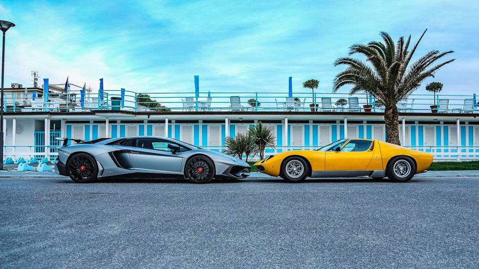 Lamborghini Miura Celebration Tour Aventador