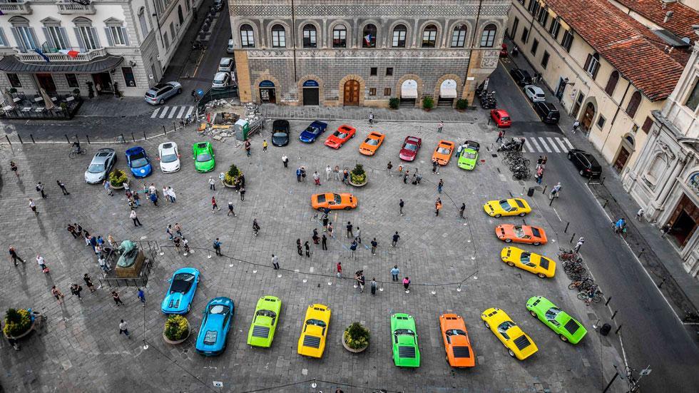 Lamborghini Miura Celebration Tour cenital