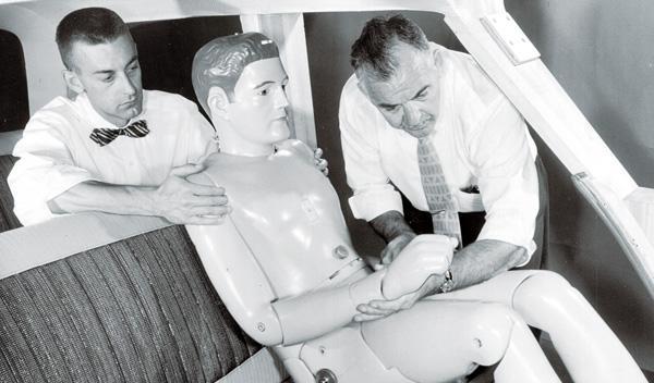 Los primeros 'dummies' eran apenas maniquíes de escapate con dos sensores