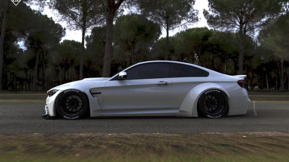 BMW M4 by Liberty Walk lateral