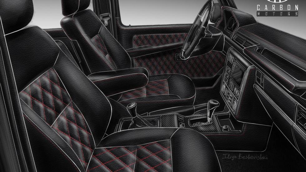 Mercedes Clase G Carbon Motors boceto
