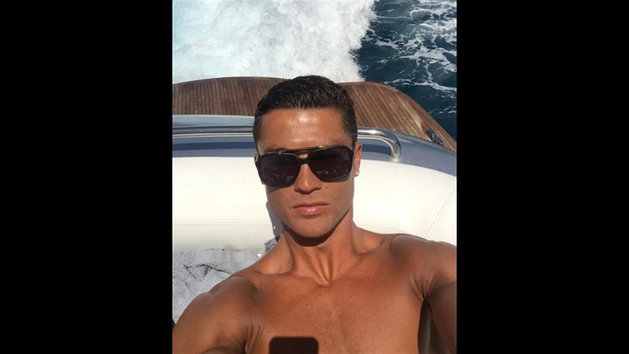 Cristiano Ronaldo, en su yate. Foto: Instagram