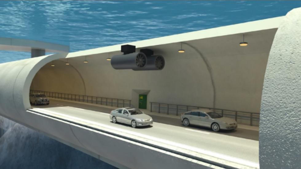 túneles flotantes bajo el mar