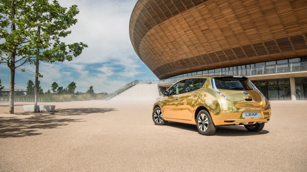 Nissan Leaf dorado Juegos Olimpicos Brasil 2016