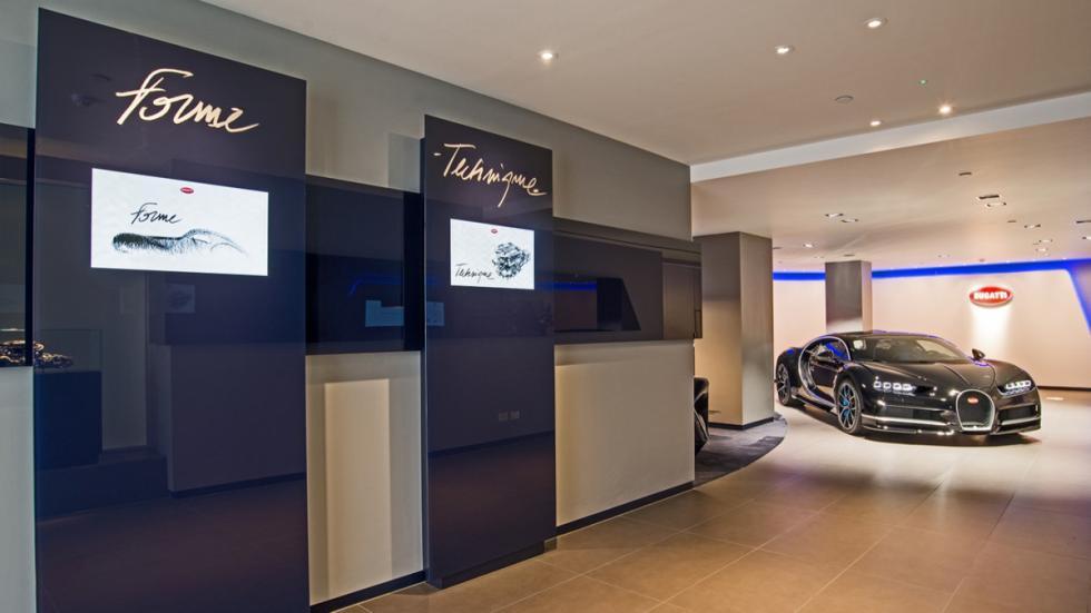 concesionario bugatti Londres exposición