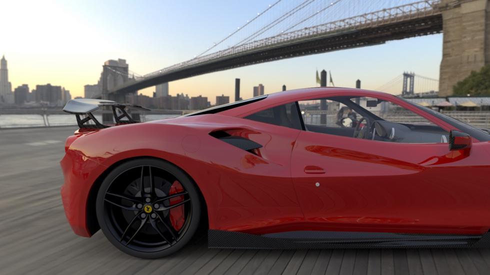 Ferrari 488 DMC Orso trasera alerón