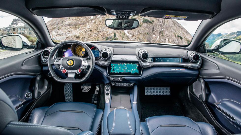Prueba Ferrari GTC4Lusso salpicadero interior
