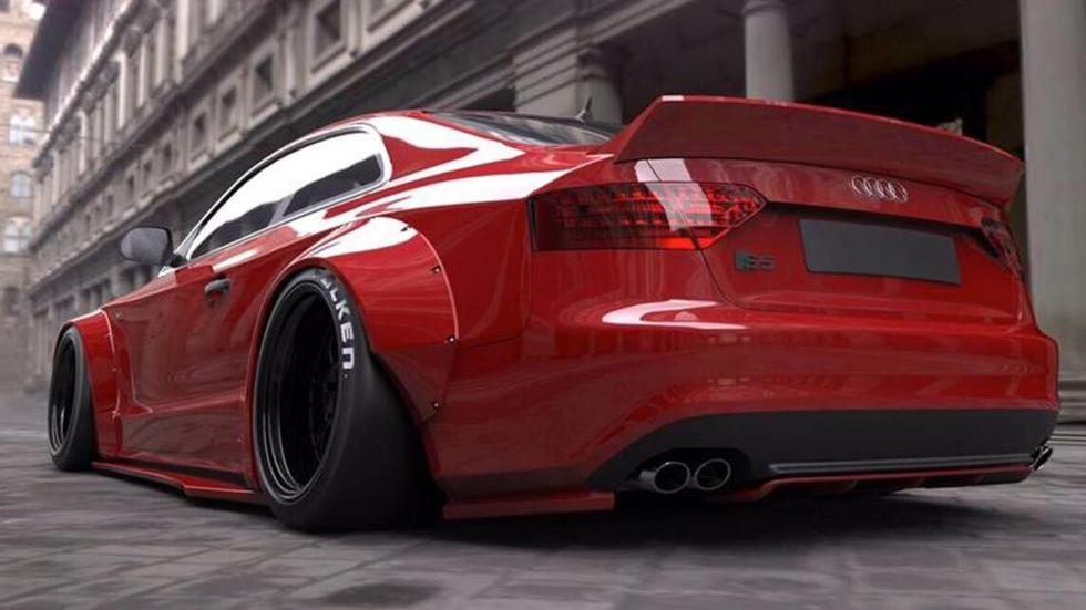 Audi A5 Liberty Walk lateral