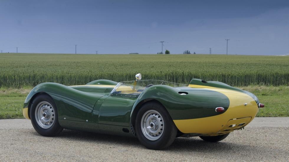Lister Jaguar Knobbly Stirling Moss tres cuartos traseros