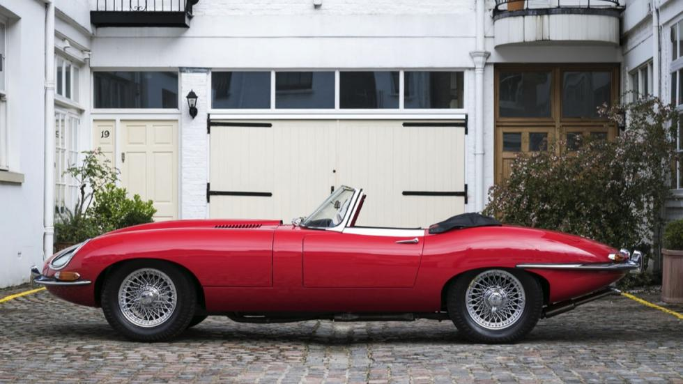 Jaguar E-Type Roadster lateral