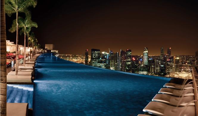 piscinas hotel impresionantes singapur