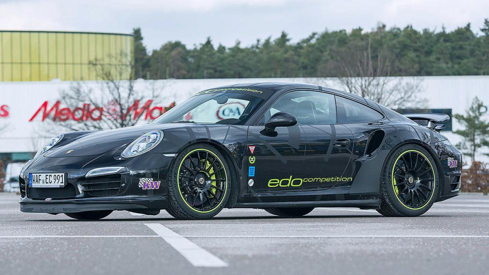Edo Competition 911 Turbo S Blackburn faros llanta lateral