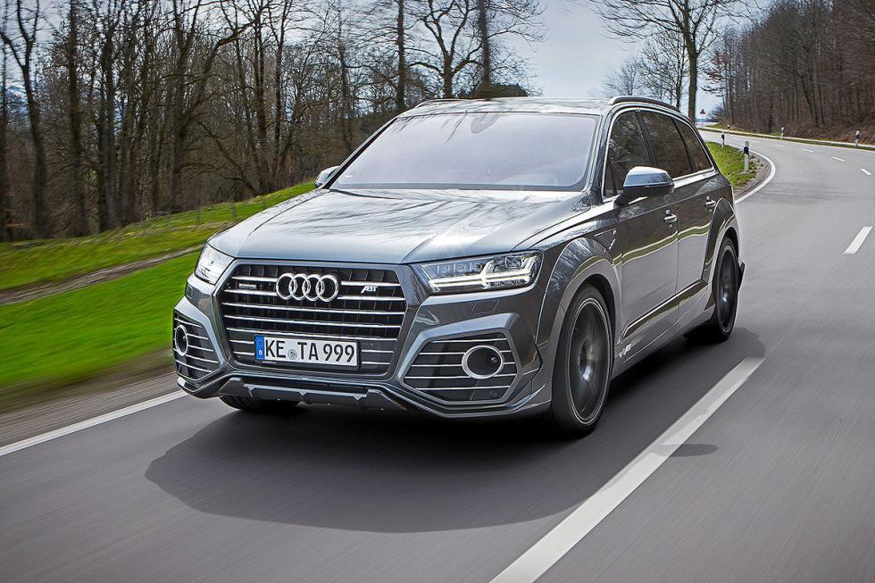Prueba tuning: Abt-Audi QS7 detalle faros dinámica