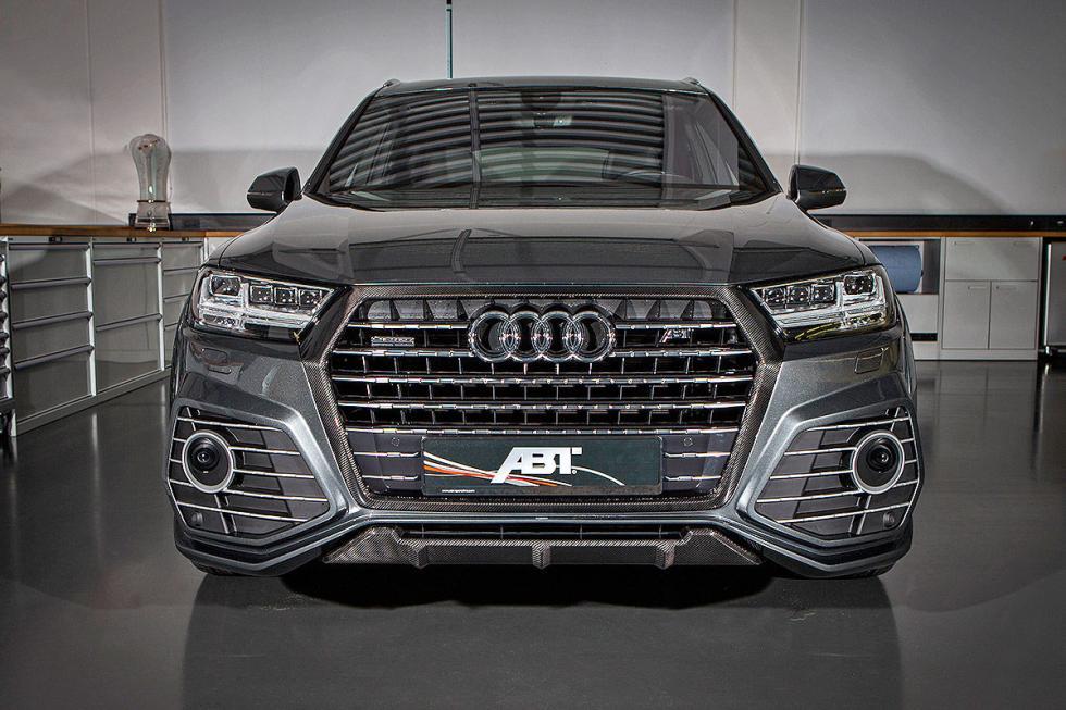 Prueba tuning: Abt-Audi QS7 detalle faros parado