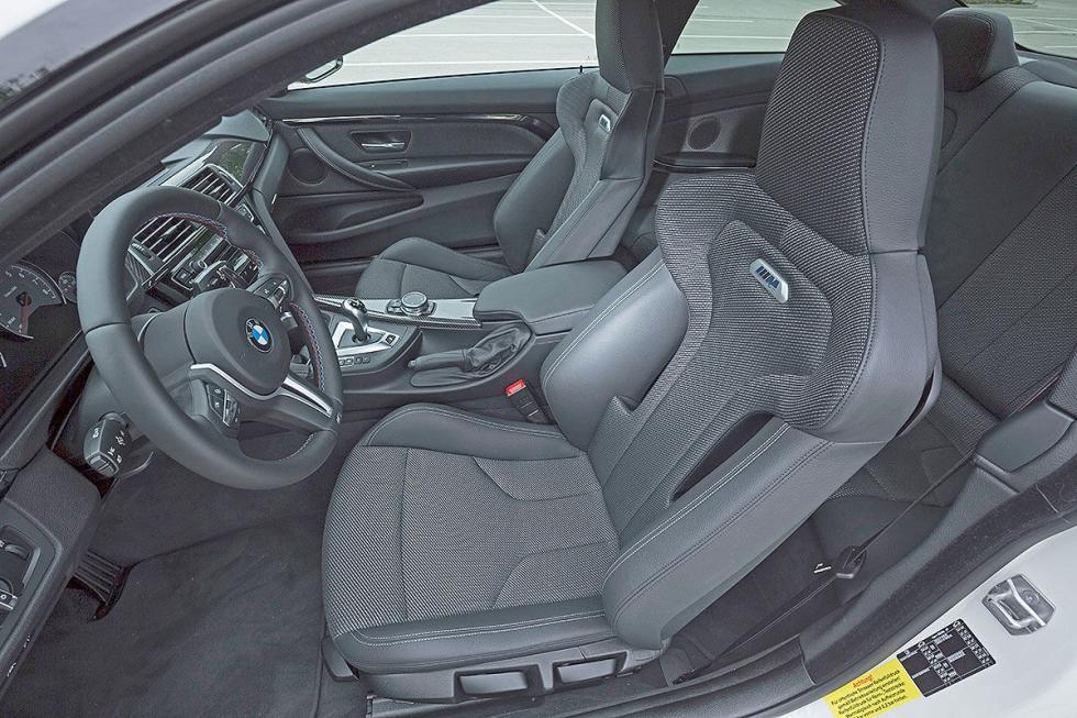 Prueba radical: BMW M4 Competition lateral asientos