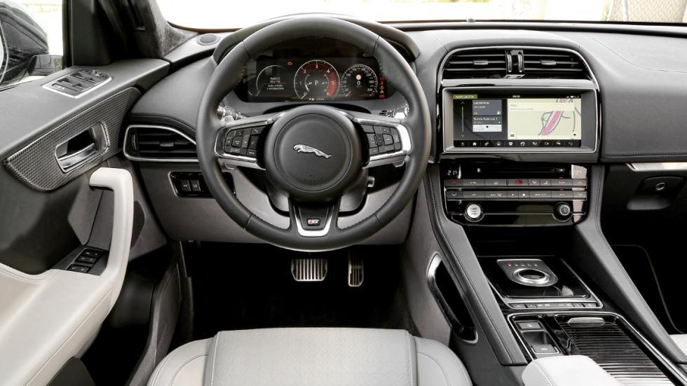 Prueba Jaguar F-Pace 3.0 TDV6 AWD S habitáculo