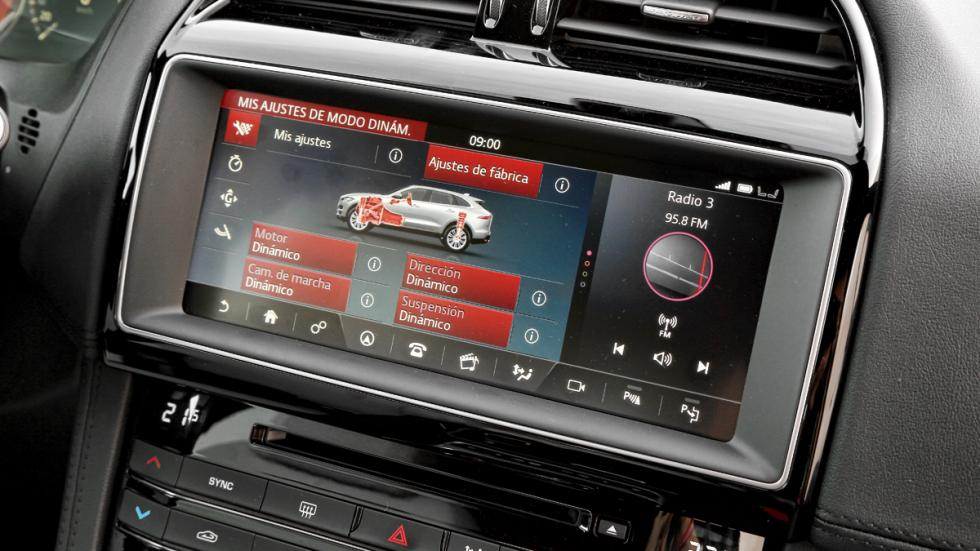 Prueba Jaguar F-Pace 3.0 TDV6 AWD S pantalla