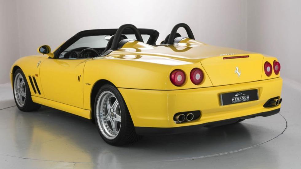 Ferrari 550 Barchetta tres cuartos traseros
