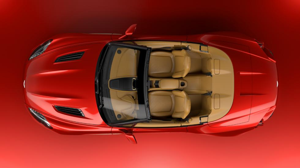Aston Martin Vanquish Zagato Volante cenital