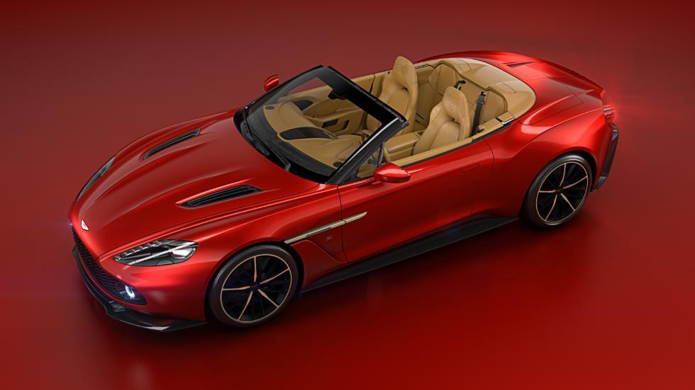 Aston Martin Vanquish Zagato Volante tres cuartos delantera