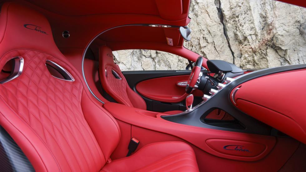 Bugatti Chiron Pebble Beach habitáculo